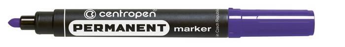 Маркер перманентный, CENTROPEN PERMANENT, 2,5 мм, фиолетовый, круглый