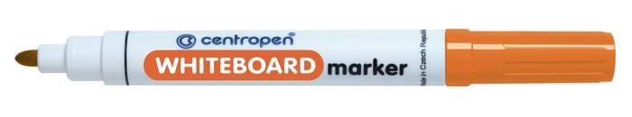 Маркер для белых досок CENTROPEN BOARD 2,5 мм оранжевый, круглый