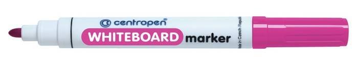 Маркер для белых досок CENTROPEN BOARD 2,5 мм розовый, круглый