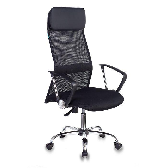 Кресло руководителя БЮРОКРАТ KB-6N черное, ткань/сетка в спинке