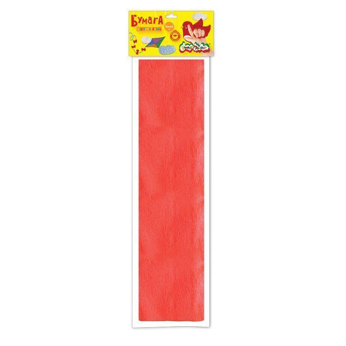Бумага цветная Каляка-Маляка крепированная, 50х250 см, 32 г/м2, красная, в пакете с европодвесом
