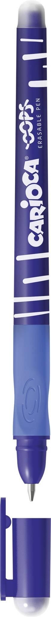 Ручка со стираемыми чернилами CARIOCA OOPS «пиши-стирай» 0,70 мм синий цвет корпуса: синий резиновый грип круглый корпус