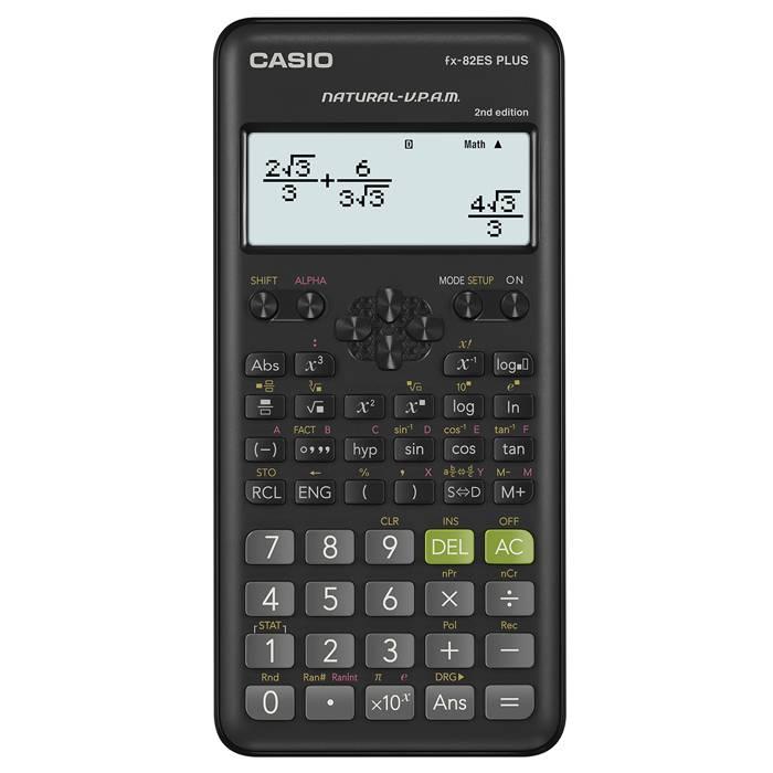 Калькулятор CASIO FX-82ESPLUS-2 252 функции 16-разрядный научный черный