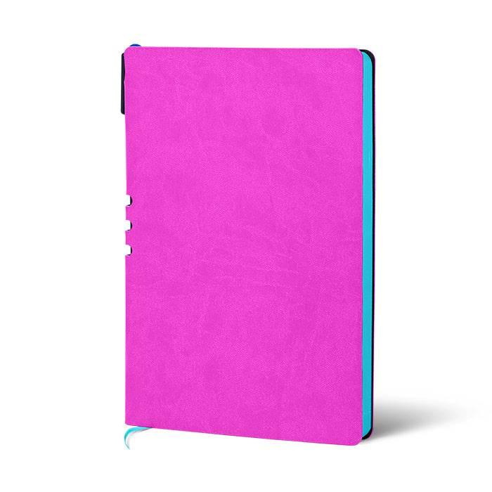 Ежедневник недатированный, А5, ручкой LOREX 128 л., мягкая обложка, искусственная кожа, 70 гр, бумага тонированная, фуксия, бирюзовый срез,