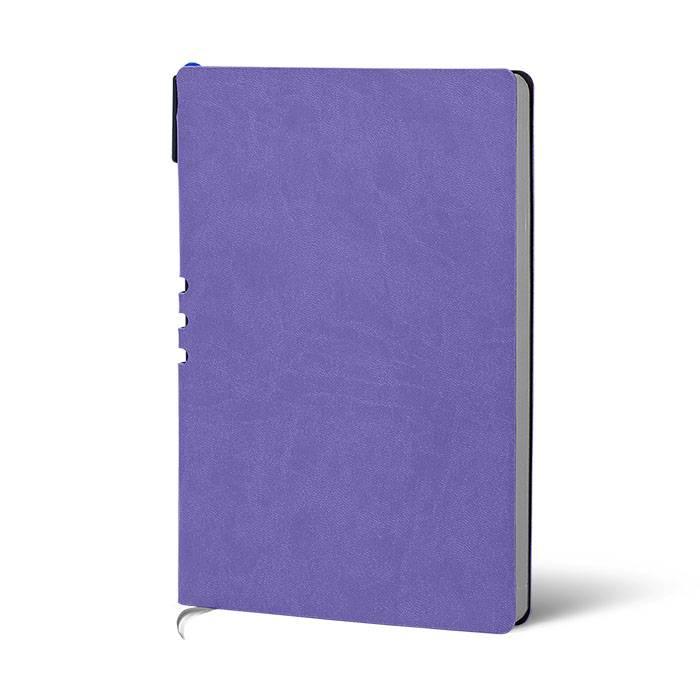 Ежедневник недатированный, А5, с ручкой LOREX, 128 л., мягкая обложка, искусственная кожа, 70 гр, бумага тонированная, лавандовый, серебряны