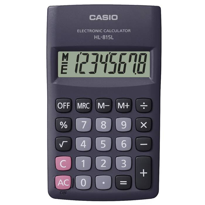 Калькулятор CASIO HL-815L 8 р карманный черный