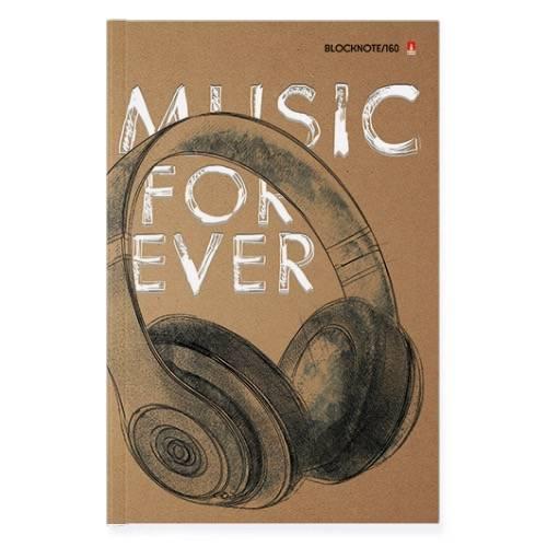Блокнот-пр. А5 135х205 мм 160 л. кл. MUSIC FOREVER 7БЦ тв.обл. гл.лам. 55 г/м2