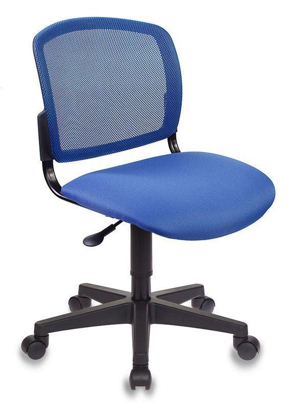 Кресло БЮРОКРАТ CH-296 темно-синее, ткань/сетка в спинке