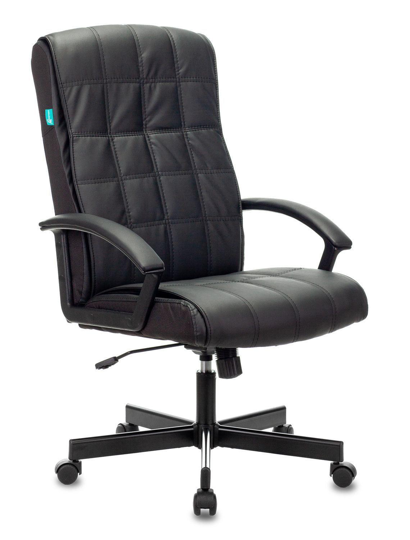 Кресло руководителя БЮРОКРАТ CH-823AXSN черное, иск. кожа