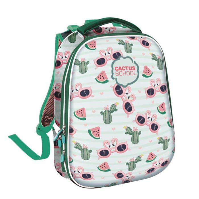 Рюкзак жесткокаркасный 2-секц. Schoolformat, модель ERGONOMIC 2, серия КАКТУСЫ