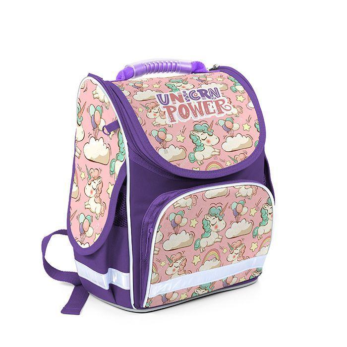 Рюкзак жесткокаркасный Schoolformat, модель BASIC, серия ЕДИНОРОЖКИ