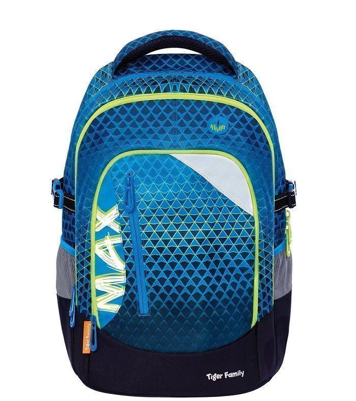 Рюкзак TIGER MAX ВИРТУАЛЬНЫЙ МИР, 26 л, 43х33х23 см, ткань, молния, для мальчиков