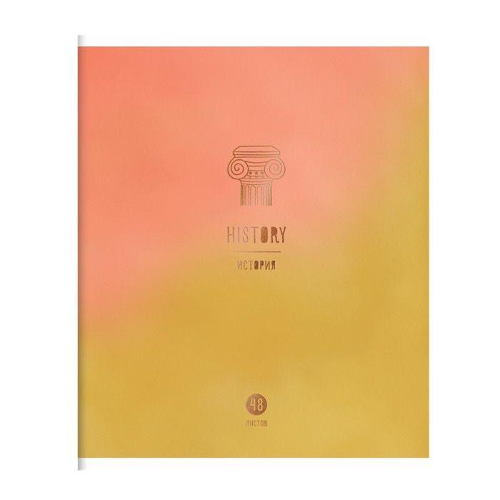 Тетрадь предметная 48 л., А5, клетка, ART OF STUDY История, мелованный картон, матовая ламинация, фольга