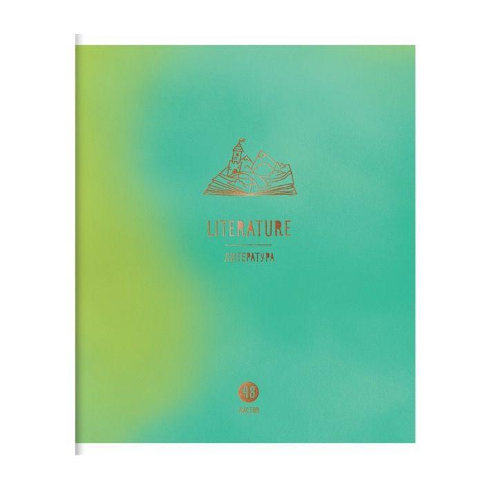 Тетрадь предметная 48 л., А5, линия, ART OF STUDY Литература, мелованный картон, матовая ламинация, фольга