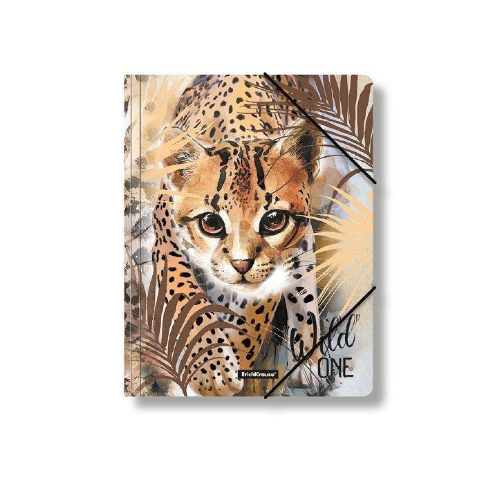 Папка с резинкой ErichKrause WILD CAT А4 пластик