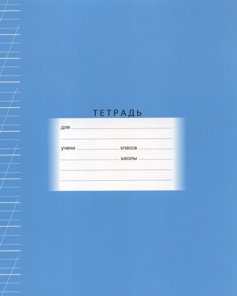 Тетрадь 12 л., А5, узкая косая линия, ОБРАЗЦОВАЯ, мелованный картон