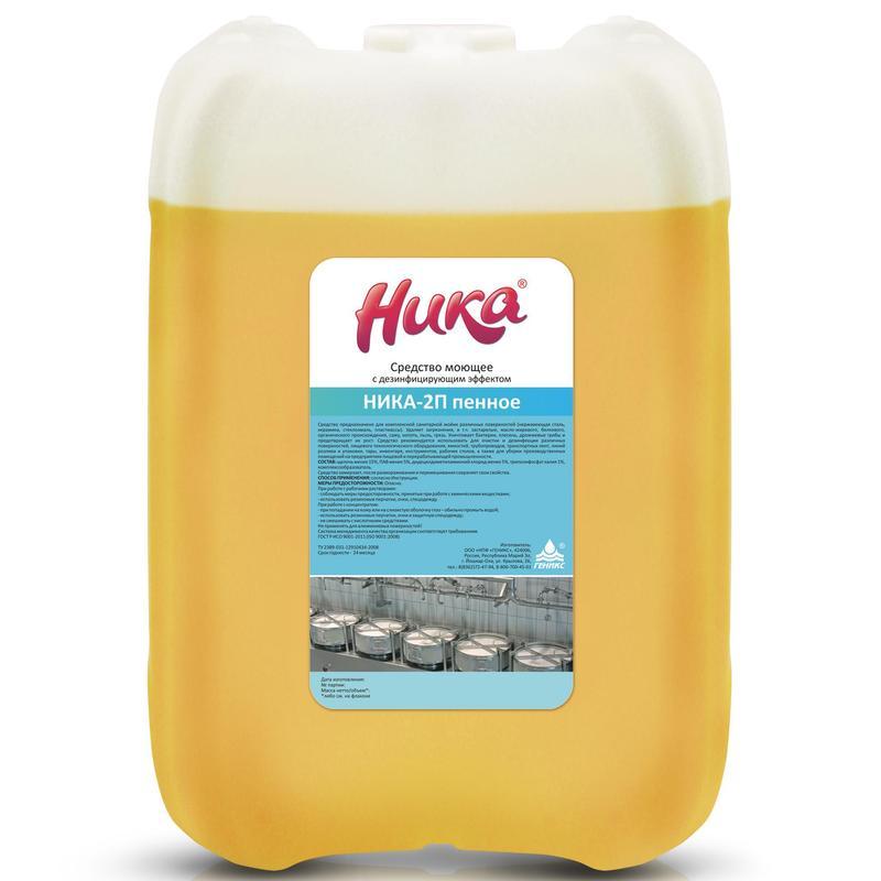 Средство моющее с дезинфицирующим эффектом Ника-2П пенное канистра 5 кг