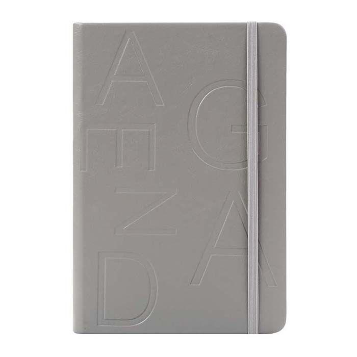 Ежедневник, А5, 136 л., недатированный, inФОРМАТ FAVORITE ПРИНТ, твердая обложка, серый, ляссе, резинка, тонированная бумага