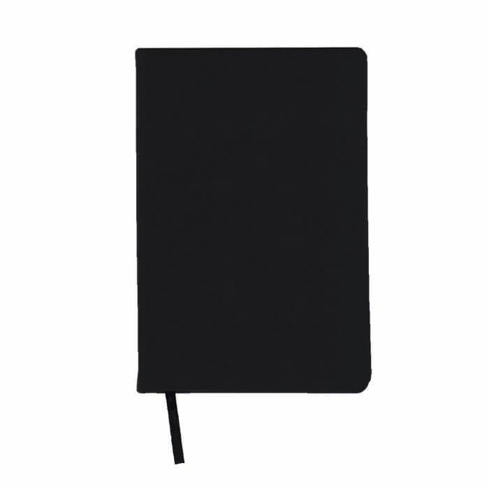 Ежедневник недатированный, А5, LITE DERBI, 136 л., твердая обложка, черный, ляссе, тонированная бумага