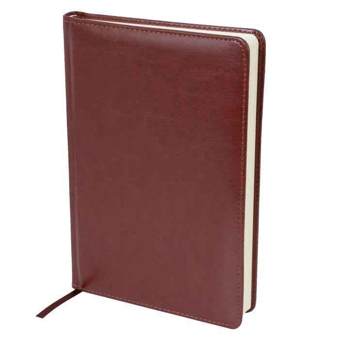Ежедневник недатированный, А5, LITE CLASSIC, 136 л., твердая обложка, коричневый, ляссе, тонированная бумага
