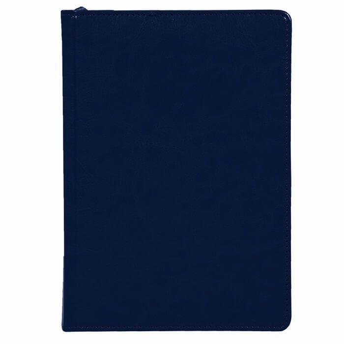 Ежедневник недатированный, А5, LITE CLASSIC, 136 л., твердая обложка, синий, ляссе, тонированная бумага