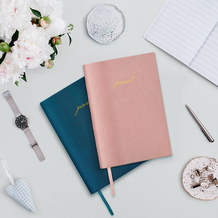 Ежедневник недатированный, А5, LOREX VELVET STYLISH COLLECTION, 80 л., мягкая обложка, розовый с тиснением, фактура нубук, ляссе, тонированн