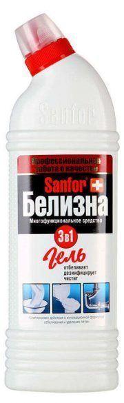Белизна гель SANFOR с хлором 3 в 1 1000г