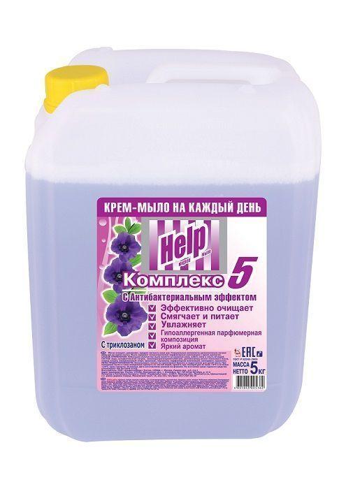 Крем-мыло HELP с антибактериальным эффектом 5 кг