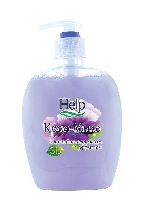 Крем-мыло HELP с антибактериальным эффектом 300 гр с дозатором
