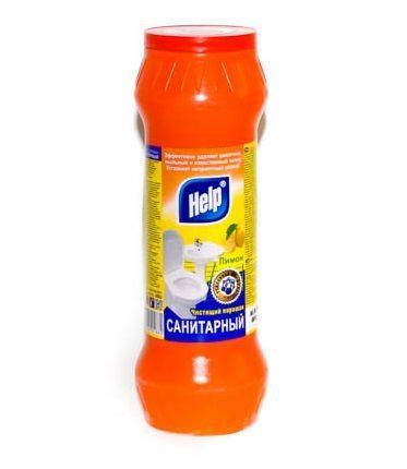 Чист.порошок Санитарный HELP лимон 400 г