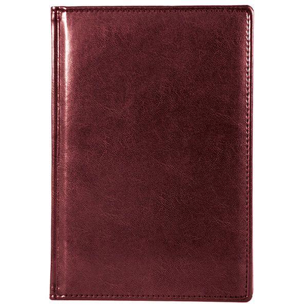 Ежедневник А5 датированный 176 л., БИЗНЕС 2021г, твердая обложка, бордо, ляссе