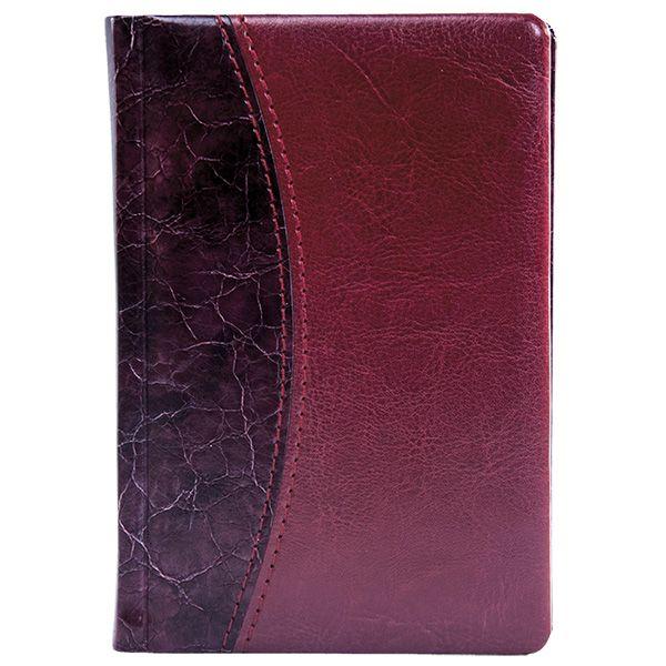 Ежедневник А5 датированный 176 л., ВИНТАЖ 2021г, твердая обложка, бордо, ляссе