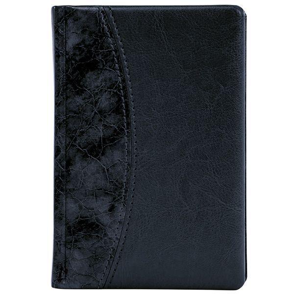 Ежедневник А5 датированный 176 л., ВИНТАЖ 2021г, твердая обложка, черный, ляссе