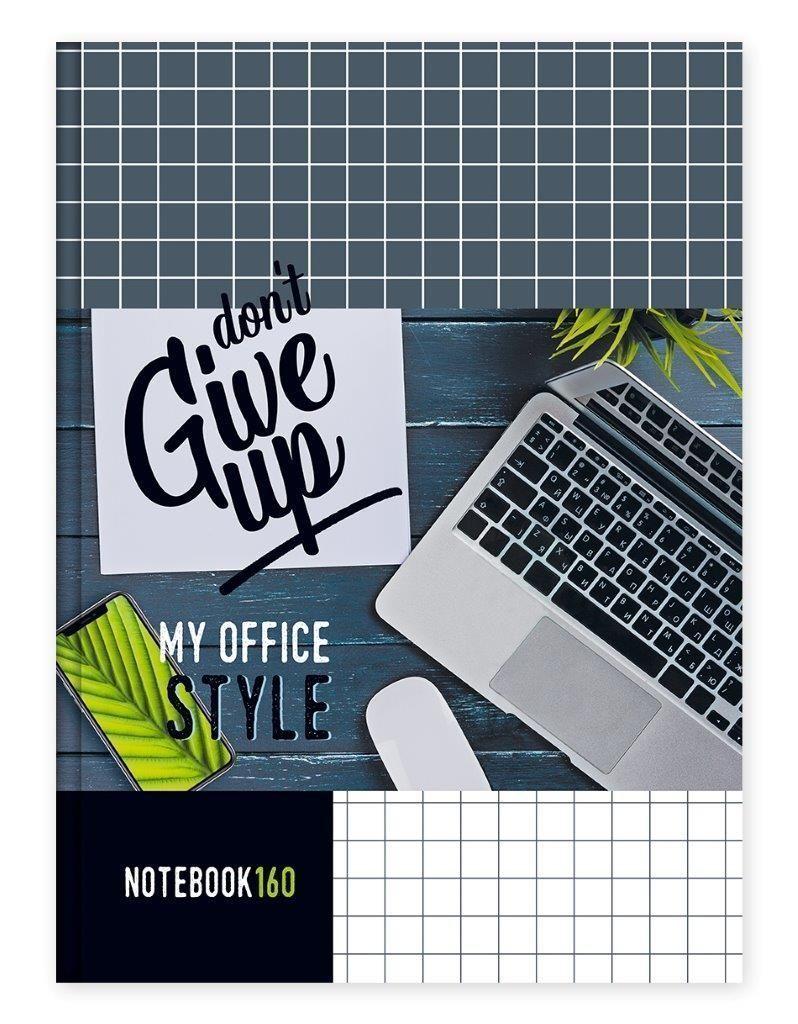 Бизнес-блокнот А4, 160 л., клетка, MY OFFICE, твердая обложка, глянцеая ламинация