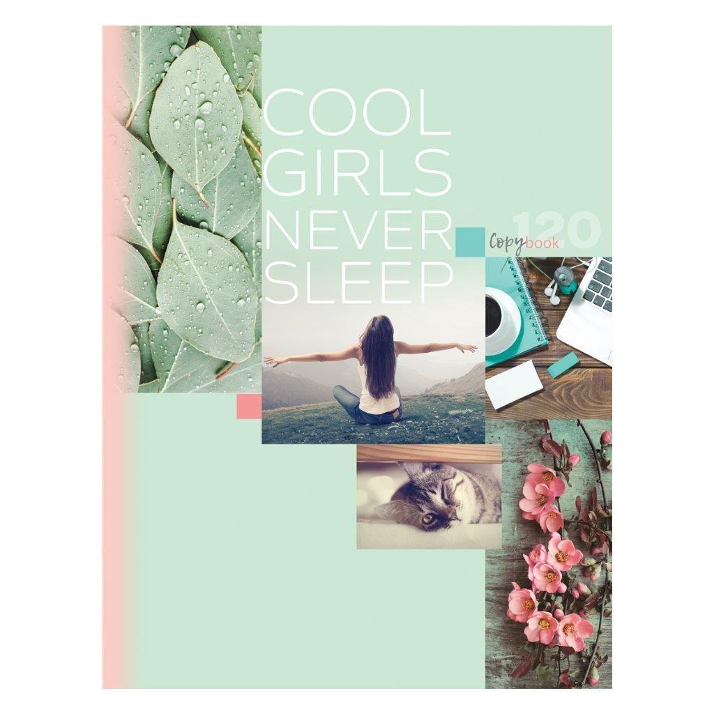 Тетрадь со сменным блоком 120 л., А5, клетка, COOL GIRLS, глянцевая ламинация, на кольцах