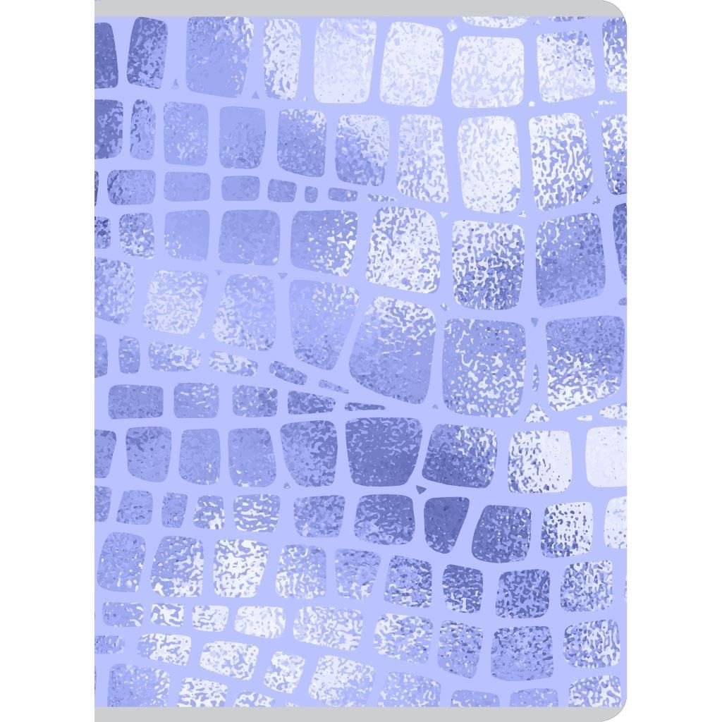 Тетрадь 80 л., А4, клетка, МЕТАЛЛИК ФИОЛЕТ, мелованный картон, глянцевая ламинация