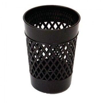 Стакан для канцелярский принадлежностей, UNIPLAST ОФИС-КЛАСС, черный, пластик