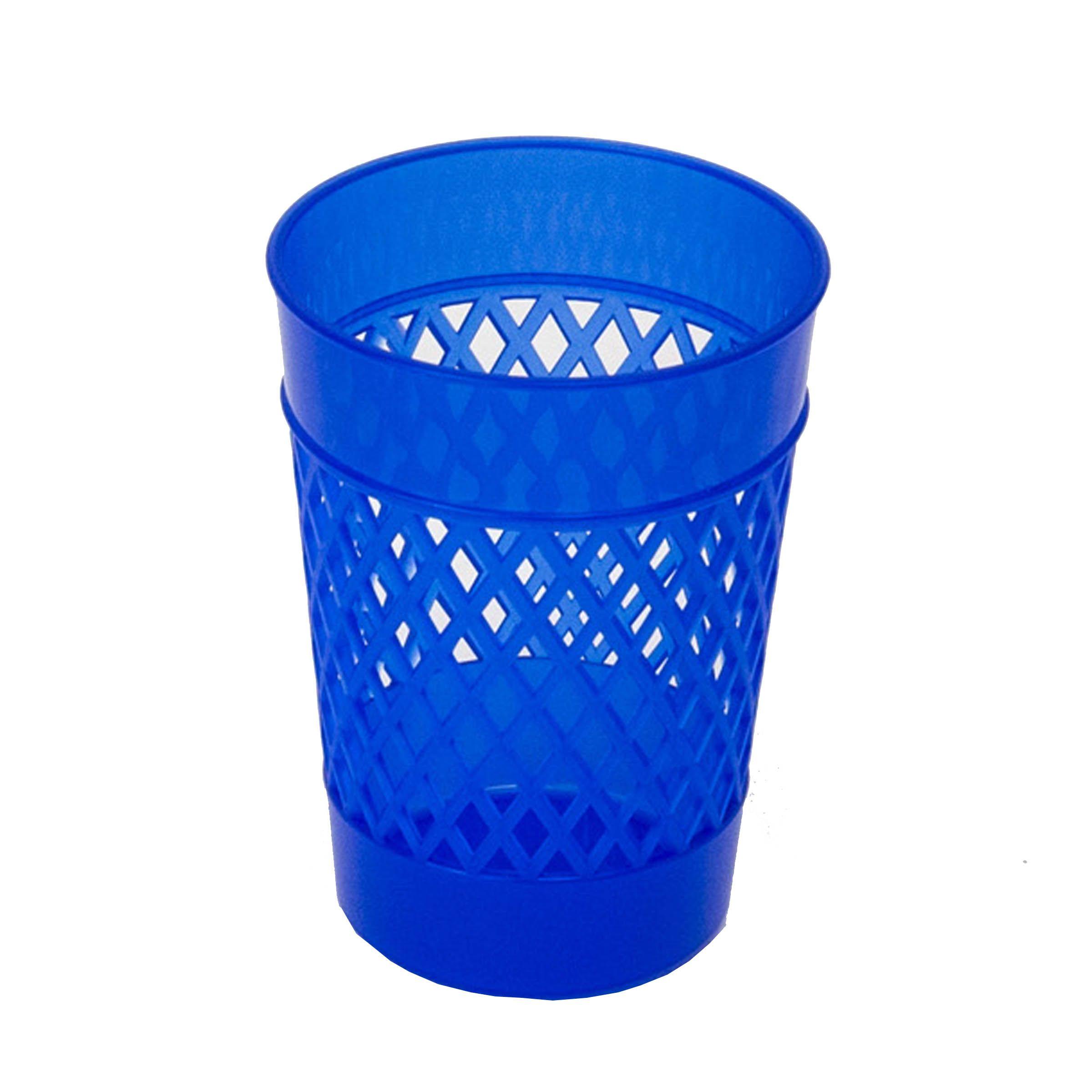 Стакан для канцелярских принадлежностей, UNIPLAST ОФИС-КЛАСС, синий, пластик