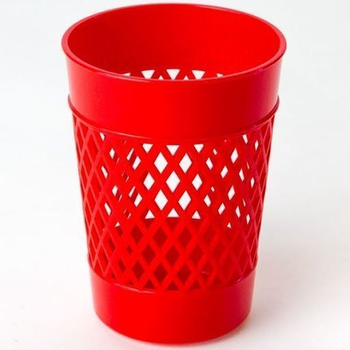 Стакан для канцелярских принадлежностей, UNIPLAST ОФИС-КЛАСС, красный, пластик