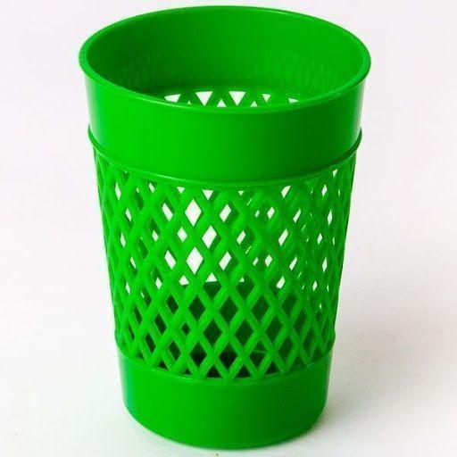 Стакан для канцелярских принадлежностей, UNIPLAST ОФИС-КЛАСС, зеленый, пластик
