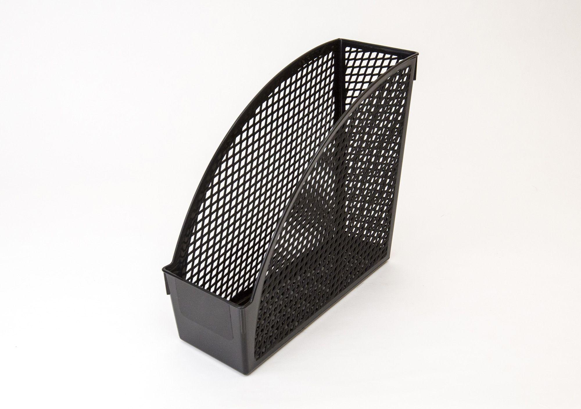 Лоток вертик. UNIPLAST ОФИС-КЛАСС 100 мм черный пластик
