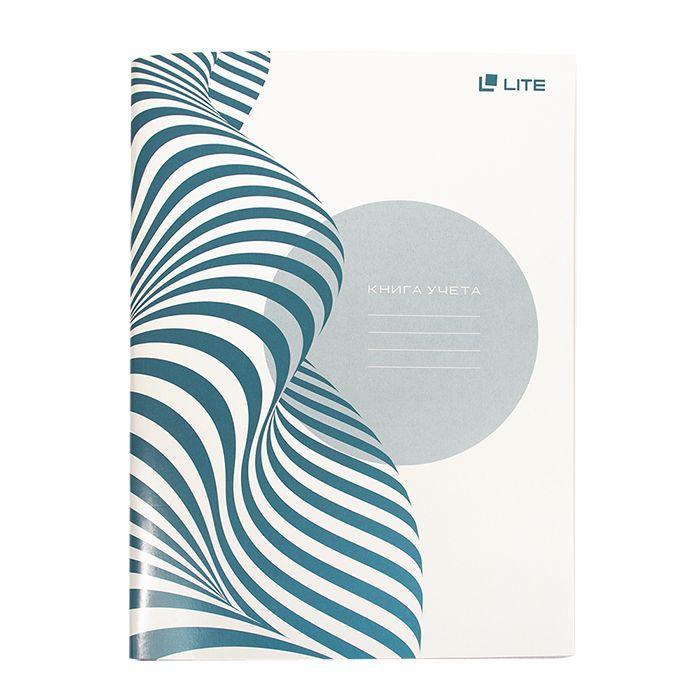 Книга учета 64 л, клетка, офсет, А4, мелованный картон вертикальная