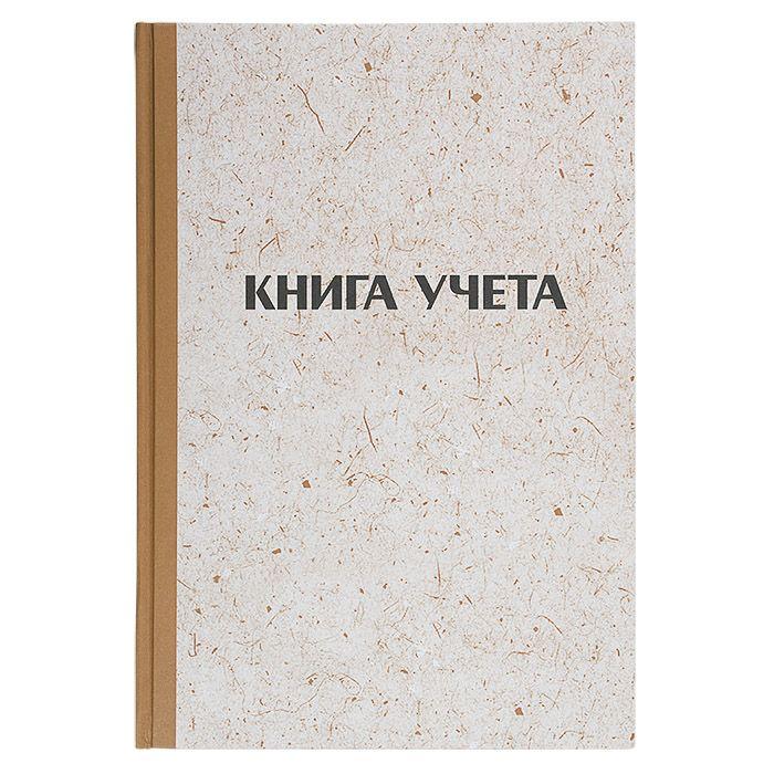Книга учета LITE А4, 144 л, клетка с нумерацией, блок газетный 45 г/м2, твердая обложка, вертикальная