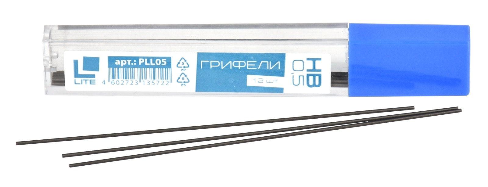 Грифель для механических карандашей LITE 0,5 НВ 12 шт
