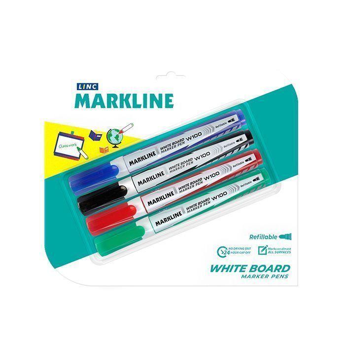 Набор маркеров для досок LINC BOARD 2,5-3,7 мм ассорти круглый 4 шт