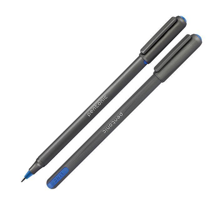 Ручка шариковая одноразовая LINC PENTONIC SILVER 1 мм синий