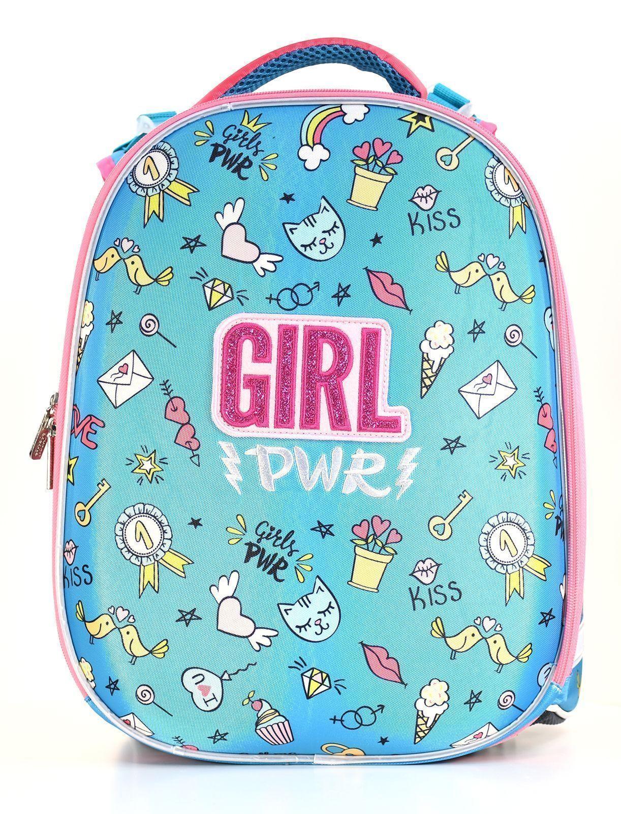 Рюкзак Schoolformat Girl power, модель ERGONOMIC+, жесткий каркас, двухсекционный, 38х30х18 см, 17 л, для девочек