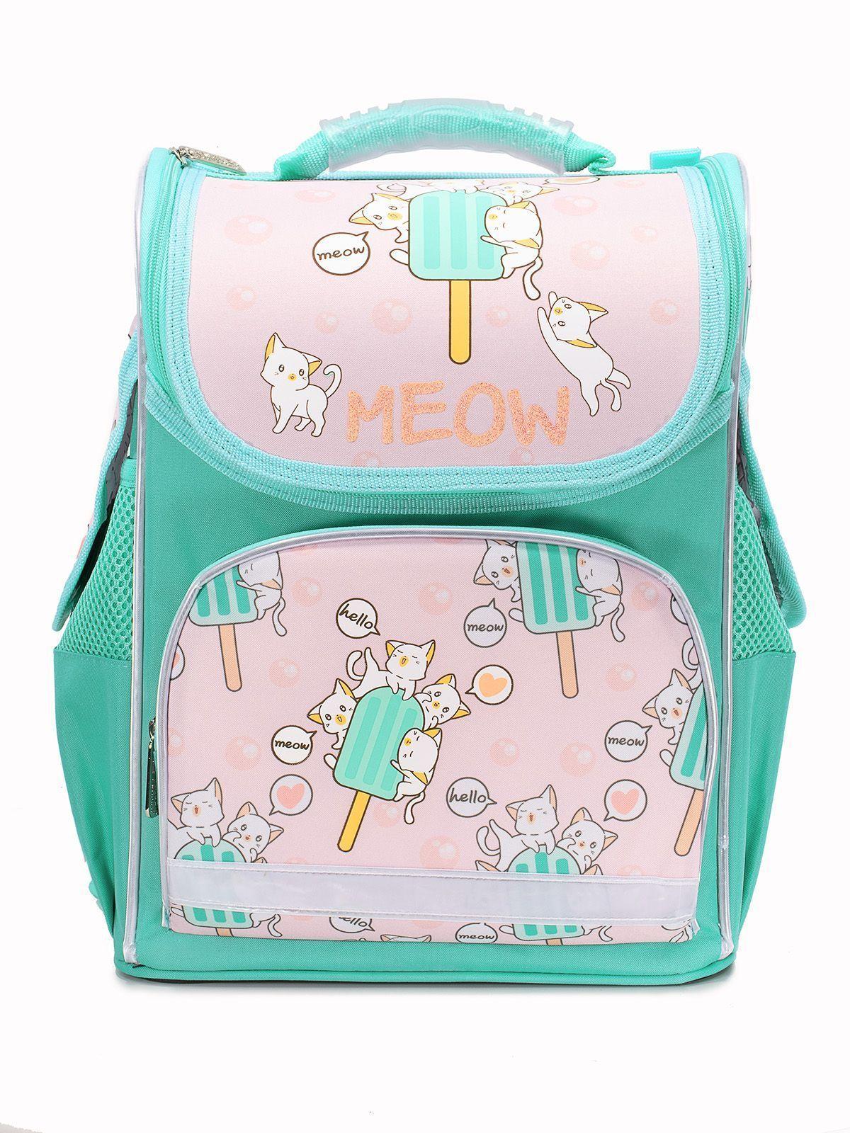 Рюкзак Schoolformat Kawaii cats, модель BASIC, жесткий каркас, односекционный, 38х28х16 см, 15 л, для девочек