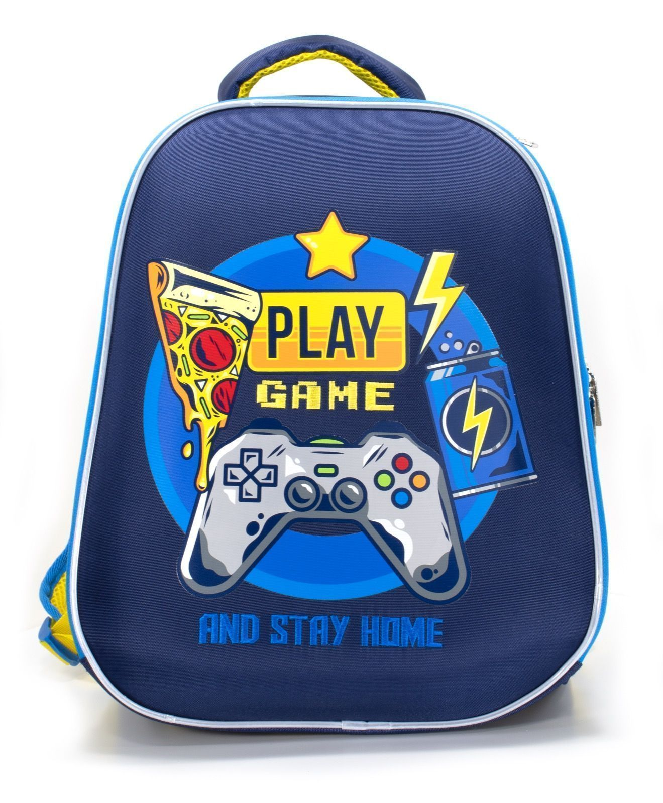 Рюкзак Schoolformat Play game, модель ERGONOMIC LIGHT, жесткий каркас, двухсекционный, 38х30х18 см, 17л, для мальчиков