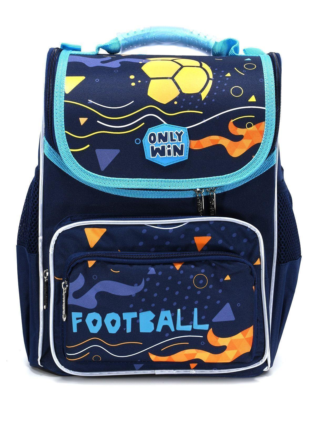 Рюкзак Schoolformat Football, модель BASIC, жесткий каркас, односекционный, 36х26х20 см, 15 л, для мальчиков